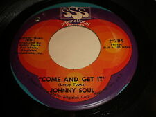 Johnny Soul: Come And Get It / Lonely Man 45 - Soul