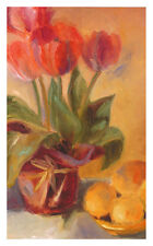 Shari White Spring Tulips with Lemons Poster Kunstdruck Bild 53x33cm - Portofrei