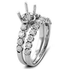 1.10CT Round F VS1 Diamond Bridal Setting Wedding Engagement 14K White Gold Ring