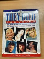 """1996 """"THEY DIED TOO YOUNG"""" MUSIC & FILM LEGENDS LARGE ILLUSTRATED HARDBACK BOOK"""