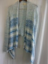 Hollister Size  XS Blue and White Open Front  Cardigan Long Sleeve Sweater