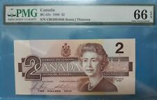 1986 BANK OF CANADA $2 **Bonin & Thiessen** PMG66 EPQ GEM UNC <BC-55c>