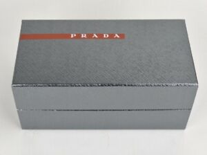 PRADA Empty Sunglasses Gift Box Metallic Grey Silver Large