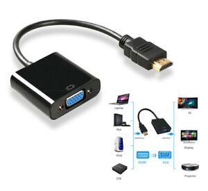 HDMI Male To VGA Female Adapter 1080P Video Cord Converter Cable Fit HD TV TV PC