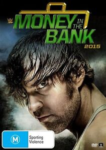 WWE - Money In The Bank 2015 (DVD, 2015) - *** Brand New with MITB Key Ring ***