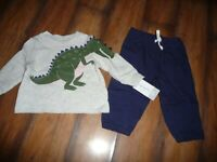 NEW NWT Carters boys size 6 months adorable dinosaur outfit CUTE!