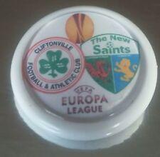 Cliftonville v The New Saints match badge europa league TNS rare