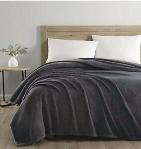 NEW UGG Coco Queen Plush Blanket Charcoal Grey Heavy Weight Luxury Large Throw