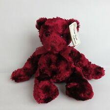 Velvet Touch Collection Bean Bag Bear Tinsel w/ Tags burgundy