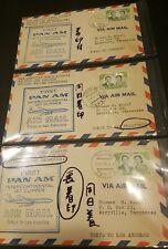 Japan FDC (x3) (First Pan Am Air Mail)