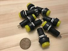 8 Pieces Yellow PUSH BUTTON SWITCH DC 6A Momentary N/O normally open on/off C19