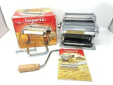 Pasta Maker SP150 Imperia  Manual Tippo Luso De Luxe  Stainless Cutter Italy