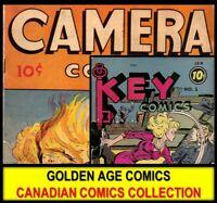 DVD Golden Age CANADIAN COMICS BOOK LOT Superior Action Triumph Treasure Chest