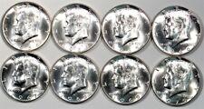 1964-1970 P&D Kennedy Half Dollars (8 coins) UNC