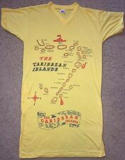 Vintage Women's M/L 80s 90s The Caribbean Islands Souvenir Yellow Sleep T-Shirt