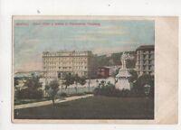 Napoli Grand Hotel Statua Sigismonde Thalberg Italy U/B Postcard Adinolfi 389b