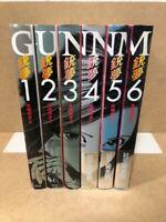 GUNNM Battle Angel Alita VOL.1-6 Comics Complete Set Yukito Kishiro Manga used