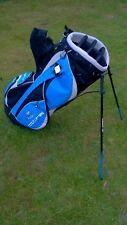 Brand New With Tags Golf Stand Bag Cobra Full Size Black Blue Silver Finish