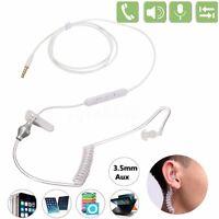 Air Tube Monaural In Ear Earphone Anti-radiation Headset Mic Headphone 3.5mm NEW