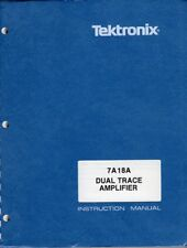 Original Tektronix Instruction Manual for the 7A18A Dual-Trace Amplifier