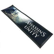 ASSASSINS CREED UNITY BAR RUNNER - 90 X 25 CM - Rubber Back - Barware Man Cave