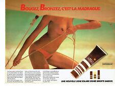 Publicité Advertising 038  1979   ligne solaire La Madrague  Brigitte Bardot