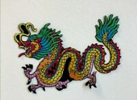 Colourful Tattoo Chinese Dragon Embroidered Iron Sew on Patch j1853