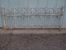 ANTIQUE FRENCH WROUGHT IRON FENCE GATE HEADBOARD SCULPTURE ART GARDEN GOTHIC