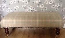 Footstool In Laura Ashley Keynes Duck Egg Fabric