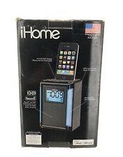 iHome iP40 iPod iPhone FM Alarm Clock Radio Speaker Dock - Black - Used