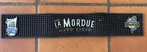 Serviette TAPIS DESSUS DE BAR EGOUTTOIR PVC « La Mordue Hard Cider «60/10