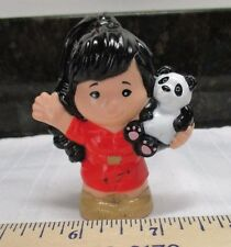 Fisher Price Little People Panda Girl Zoo Keeper Red Romper Woman New Style Part