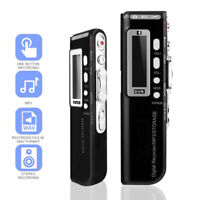 8GB Digital Voice Activated Recorder Sound Audio Dictaphone USB Pen MP3 Player