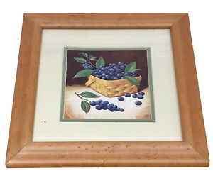 Longaberger Berry Basket with Blueberries Framed Print by Richard Cowdrey