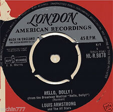 """Louis Armstrong and the All Stars Hello Dolly 7""""45rpm vinyl 1964ep record (fair)"""