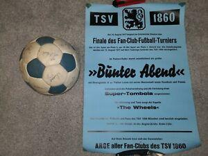 Fußball 1860 mit original Unterschriften aus 1977/1978 Poster