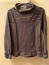 Habitat Women's Black Striped Knitted Long Sleeve Turtle Neck Sweater Size S