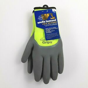 Wells Lamont Mens Cold Weather Gloves Size L XL Fleece Lining All Purpose NWT