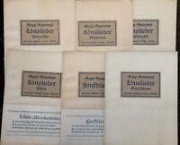 Sepp Summer 5x Löns-Lieder zur Gitarre 1x Finckh-Lieder 1924 Noten + Texte