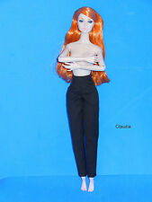 Jason Wu 1:6 ELEGANT BLACK PANTS for Poppy Parker Dynamite Girls Barbie Nu.Face