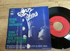 SP Judy GARLAND Live Carnegie Hall Over the rainbow / Zing ! Went the strings EX