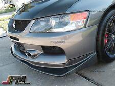For 2006-2007 Mitsubishi Lancer Evolution VR Style Carbon Fiber Front Bumper Lip