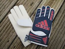 ADIDAS GOALKEEPING GLOVES JNR/ADULT  SIZE 7  WHITE NAVY RED  keeper LATEX PALM