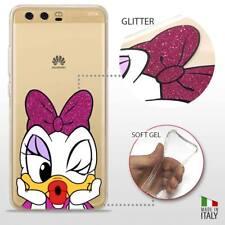 Huawei P10 Plus COVER PROTETTIVA TRASPARENTE GLITTER DISNEY PAPERINA DAISY DUCK