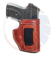 For Ruger LC9 Leather Concealment (CCW) IWB Holster Right Hand Black or Brown