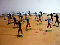 16 Old Flat Tin Soldiers, Hand Painted on both sides, very good (5)