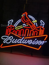 "Brand New Budweiser Bud Light St Louis Cardinals Beer Neon lIGHT Sign 24""x20"""
