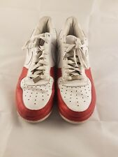 Nike Mens Air Force 1 '07 Trainers White Red  Low top AF1