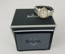BULOVA LADIES WATCH DIAMOND BEZEL AND DIAL C637452 WITH BOX AND PAPERS