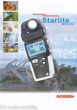 Prospekt Gossen Starlite Belichtungsmesser 2002 brochure Broschüre Deutschland